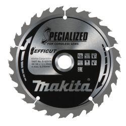 Makita B-62979 pyörösahanterä 165x20x1,4mm Z-25 Efficut puulle