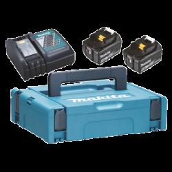 Makita Powerpack 2x5,0Ah 18V + laturi DC18RC