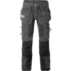 Fristads 2530 CYD rakentajan stretch housut harmaa/musta C62
