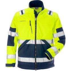 Fristads 4083 WYH High vis softshell-takki LK2 keltainen/sininen XS
