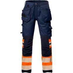 Fristads 2706 PLU High vis rakentajan stretch housut LK1 oranssi/sininen C46