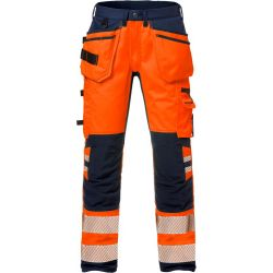 Fristads 2707 PLU High vis rakentajan stretch housut LK2 oranssi/sin C50