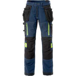 Fristads 2566 STP rakentajan stretch housut sininen C66