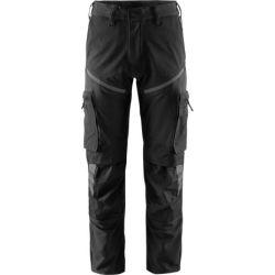 Fristads 2563 LWS stretch housut musta/harmaa C42