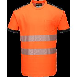 Portwest T181 Hi-Vis T-paita LK2 oranssi/musta XS