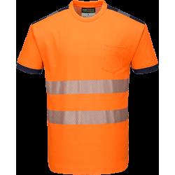 Portwest T181 Hi-Vis T-paita LK2 oranssi/sininen S