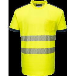 Portwest T181 Hi-Vis T-paita LK2 keltainen/sininen S