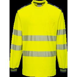 Portwest T185 Hi-Vis pitkähihainen paita LK3 keltainen/sininen S