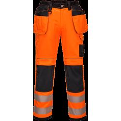 Portwest T501 Hi-Vis riipputaskuhousut oranssi/musta 33/C48