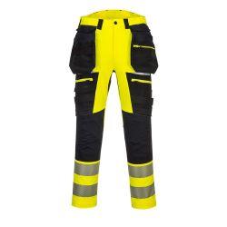 Portwest DX442 Hi-vis housut LK2 irrotettavilla riipputaskuilla keltainen/musta 28/C44