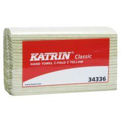 Katrin Classic 2 Taittopyyhe keltainen (16 pkt/säkki)